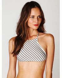 Free People | Gray Stripe Bottom | Lyst
