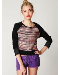 Free People | Purple Lace-up Cord Shorts | Lyst