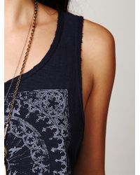 Free People | Blue Pilot Graphic Tank | Lyst