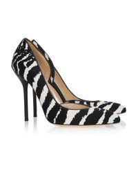 Gucci - Multicolor Zebra-print Calf-hair Pumps - Lyst