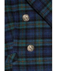 Juicy Couture - Blue Wool-blend Tartan Jacket - Lyst