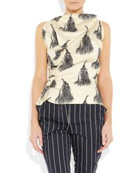 Vivienne Westwood Anglomania - Natural Fond Tassel-print Cotton Top - Lyst