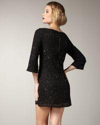 Alice + Olivia - Black Beaded Dress - Lyst