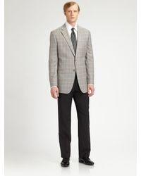 Armani | Gray Wool Sportcoat for Men | Lyst