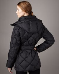 Burberry Brit - Black Short Quilted Puffer Coat - Lyst