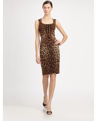 Dolce & Gabbana | Multicolor Silk Leopard Print Dress | Lyst