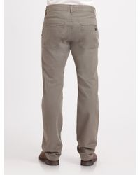 7 For All Mankind | Gray Standard Worn Grey Chino for Men | Lyst