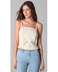 Free People | White Music City Rough Cut Corset Top | Lyst