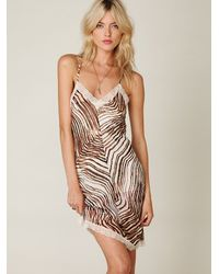 Free People | Multicolor Tiger Printed Chiffon Slip | Lyst