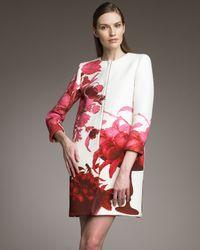 Giambattista Valli | Red Floral Print Coat | Lyst