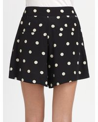 Marc By Marc Jacobs - Black Hot Dot Silk Shorts - Lyst