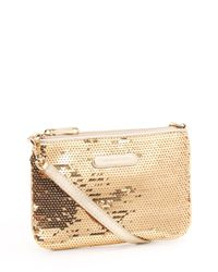MICHAEL Michael Kors - Black Medium Sequined Wristlet - Lyst