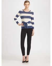 Boutique Moschino | Blue Moschino Cheap And Chic Striped Tie Sweater | Lyst