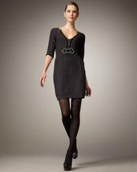 Nanette Lepore | Blue Desiree Embellished Knit Dress | Lyst