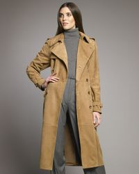 Ralph Lauren Collection | Brown Alana Suede Trench | Lyst
