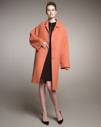 Rochas | Orange Double-face Wool Coat | Lyst