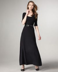 Splendid | Black Scoop-neck Maxi Dress | Lyst