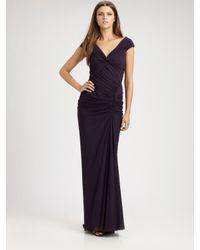 Tadashi Shoji | Purple Jersey Gown | Lyst