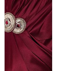 Temperley London | Red Long Kaya Embellished Silk-satin Gown | Lyst
