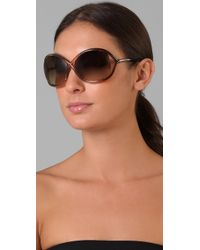 Tom Ford - Brown Whitney Sunglasses - Lyst