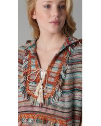 Tory Burch   Multicolor Caterina Hooded Poncho   Lyst