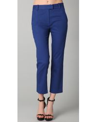 3.1 Phillip Lim | Blue Flat Front Cropped Trousers | Lyst