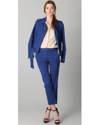 3.1 Phillip Lim - Blue Flat Front Cropped Trousers - Lyst