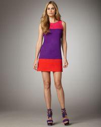 Alice + Olivia | Multicolor Haven Colorblock Shift Dress | Lyst