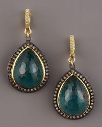 Armenta - Green Bloodstone Drop Earrings - Lyst