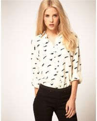ASOS Collection | Natural Asos Shirt With Panther Print | Lyst