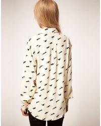 ASOS Collection - Natural Asos Shirt With Panther Print - Lyst