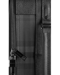 Burberry   Black Beat Check Carry On Suitcase for Men   Lyst