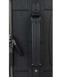 Burberry - Black Leather Carry On Suitcase for Men - Lyst