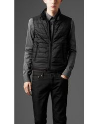 Burberry - Black Nylon Car Coat with Inner Warmer for Men - Lyst