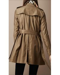 Burberry Brit | Natural Throat Latch Trench Coat | Lyst