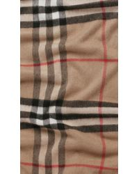 Burberry | Natural Giant Check Cashmere Scarf for Men | Lyst