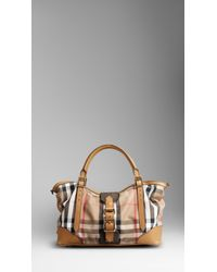 Burberry | Beige Medium Vintage House Check Tote Bag | Lyst