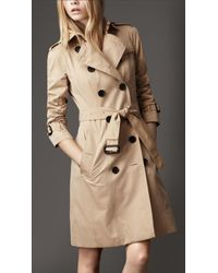 Burberry | Natural Cotton Gabardine Heritage Trench Coat | Lyst