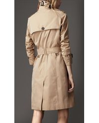 Burberry   Natural Cotton Gabardine Heritage Trench Coat   Lyst