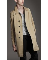 Burberry | Natural Cotton Gabardine Raglan Trench Coat for Men | Lyst