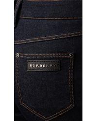 Burberry   Blue High Waist Wide Leg Jeans   Lyst