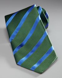 Charvet | Striped Tie, Green/blue for Men | Lyst