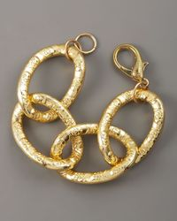 Devon Leigh - Metallic Gold Link Bracelet - Lyst