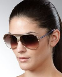 Dior | Brown Tahuata Aviator Sunglasses, Beige | Lyst