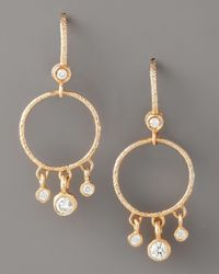 Dominique Cohen - Metallic Round Diamond-fringe Earrings, Rose Gold - Lyst