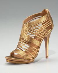 Elie Tahari - Metallic Colby Cage Platform Sandal - Lyst