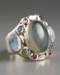 Elizabeth and James - Multicolor Multi-stone Cocktail Ring - Lyst