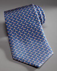 Ferragamo | Duck Tie, Blue for Men | Lyst