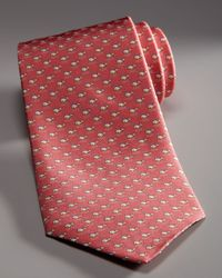 Ferragamo - Red Swimming Whales Tie, Coral for Men - Lyst
