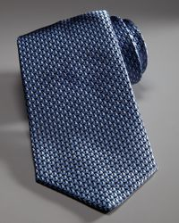 Ferragamo | Blue Woven Sailboat Tie, Marine for Men | Lyst